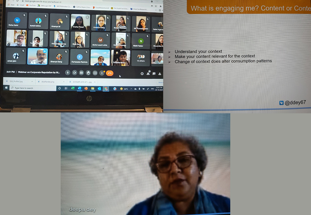 Undergraduate Students at School of Management were in for a special treat with a webinar on Communication