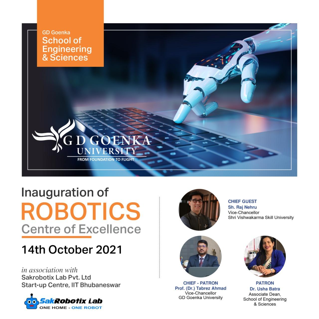 Inauguration of Robotics CoE